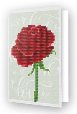Diamond Dotz Greeting Card Love Rose