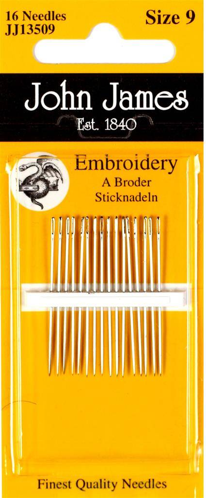 Embroidery naalden