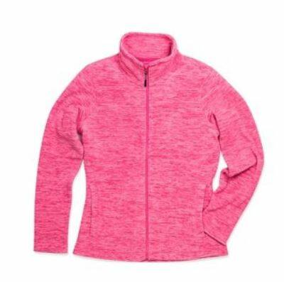 Fleece vest Dames grijs of roze