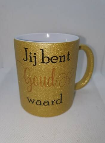Subliprint glittermok goud
