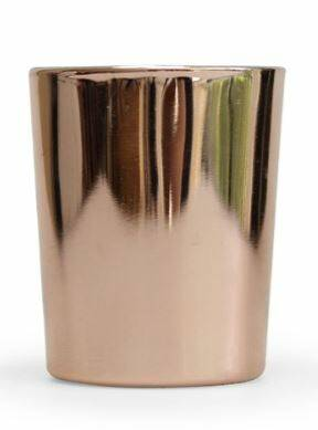 Kaars rozegold glas BF