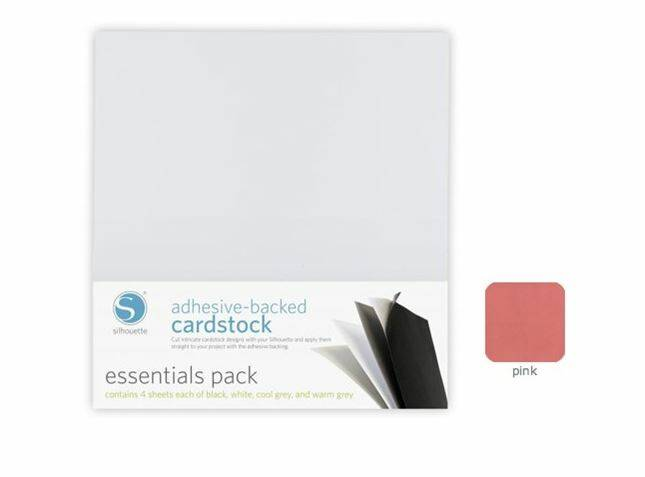 Silhouette Adhesive cardstock pink
