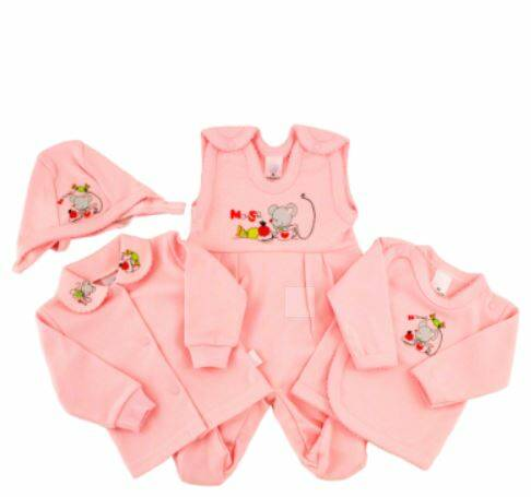 Baby setje roze little mouse