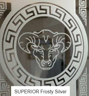 Superior Frosty Zilver glasdecoratie folie