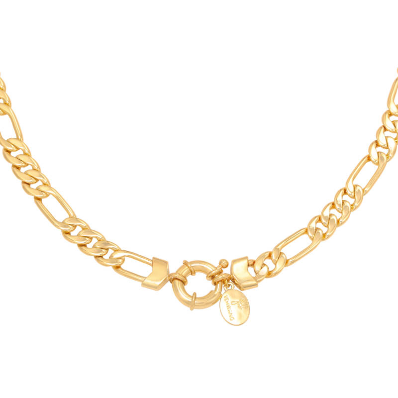 Funky chain necklace gold