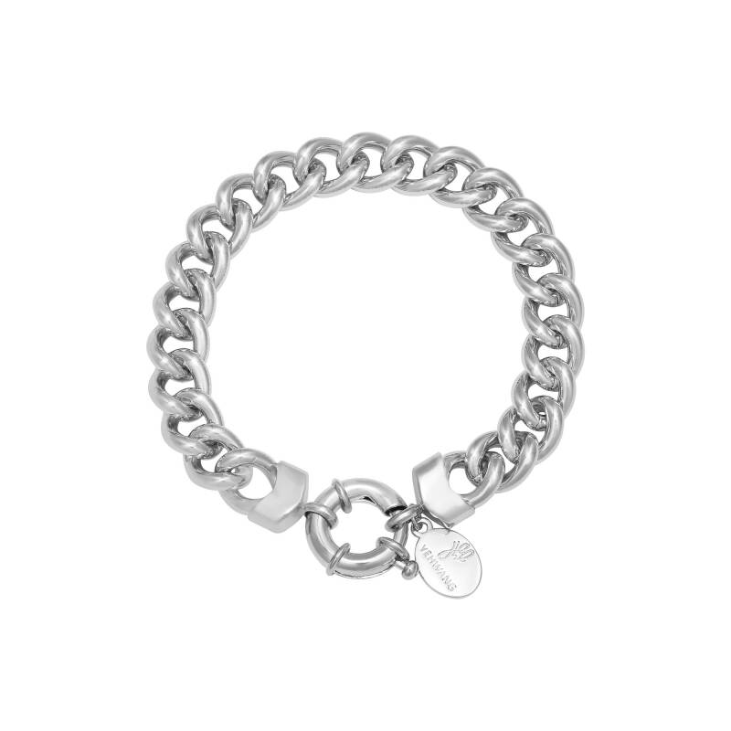 Chain holly bracelet silver