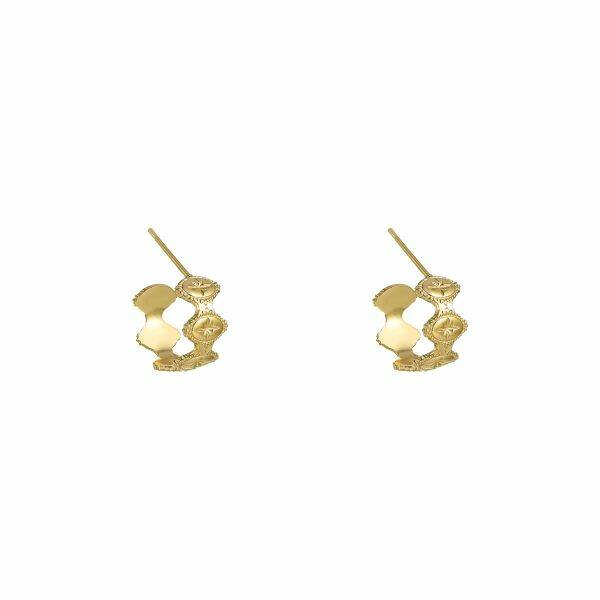 Meduza small earrings gold