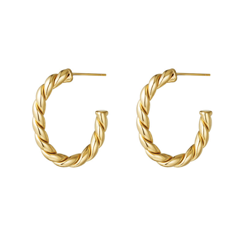 Rope hoops gold