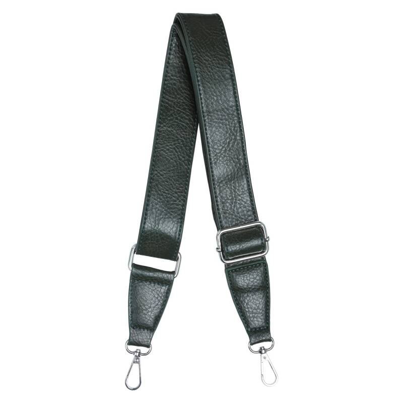 Leather bag strap green