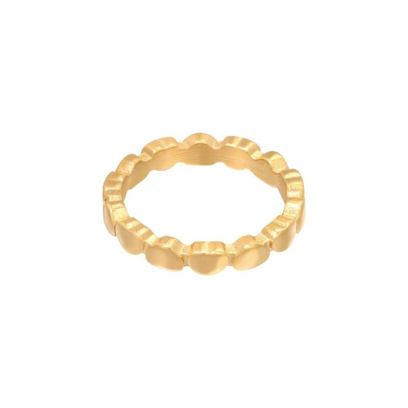 Linked hearts ring gold