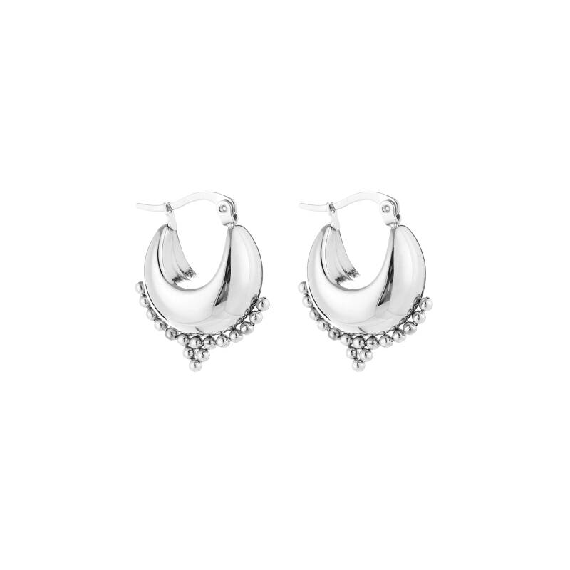 Chunky hoops silver small