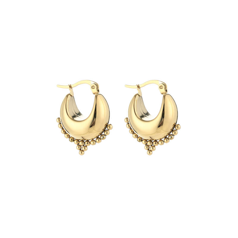 Chunky hoops small gold