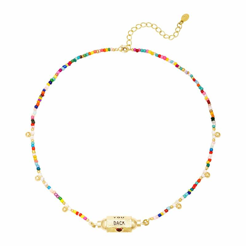 Love you back necklace