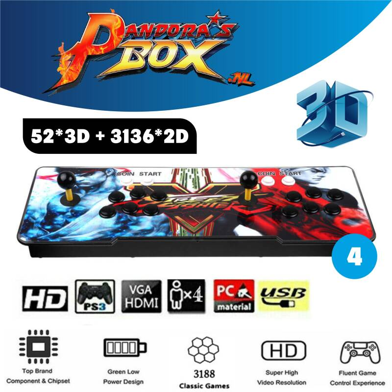 Pandora's Box 12s Arcade 3188 games 3D/2D Full HD - Street Fighter 4