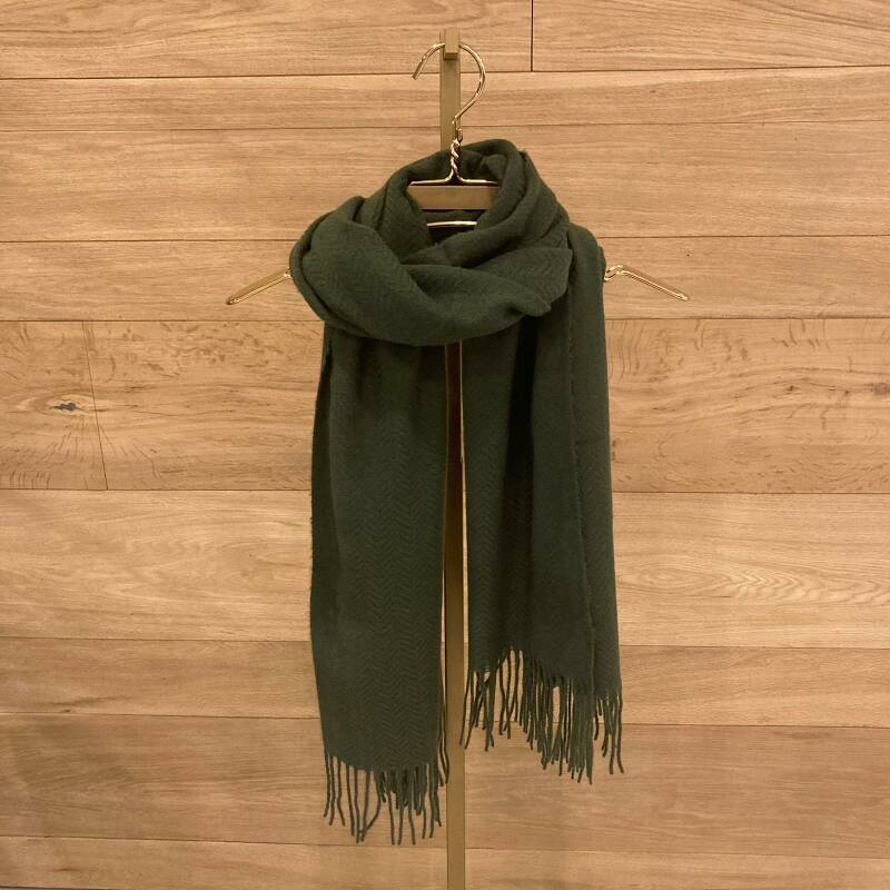 Pieces Kial Scarf Donkergroen