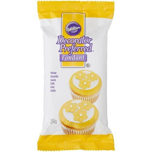 Wilton Decorator Preferred fondant geel 250 gram