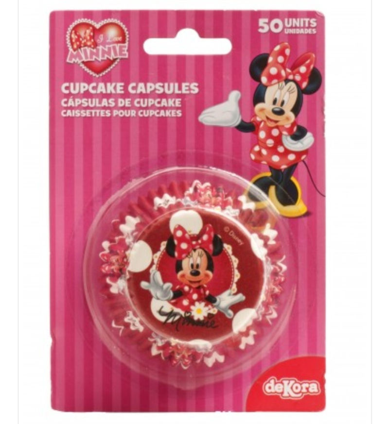 Baking cup Minnie Mouse - 50 stuks