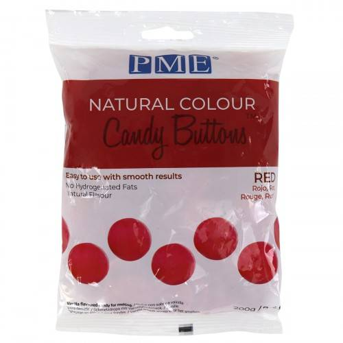 PME Natural Colour Dandy Buttons Rood 200 gram