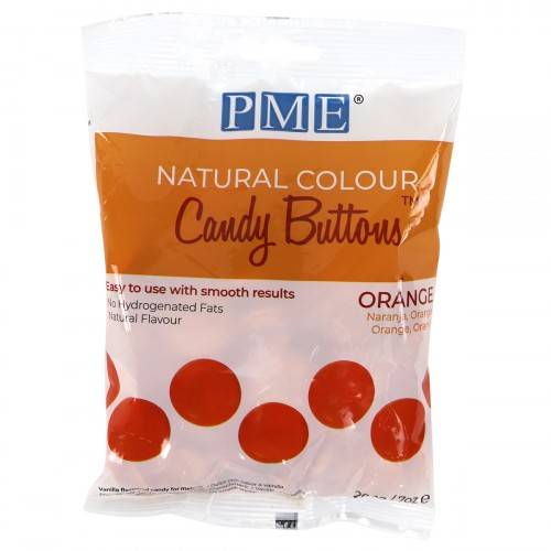 PME Natural Colour Dandy Buttons oranje 200 gram