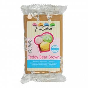 FunCakes Rolfondant -Teddy Bear Brown 250 gram