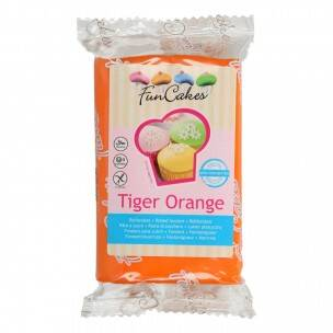 FunCakes Rolfondant -Tiger Orange 250 gram