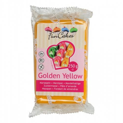 Funcakes marsepein golden yellow