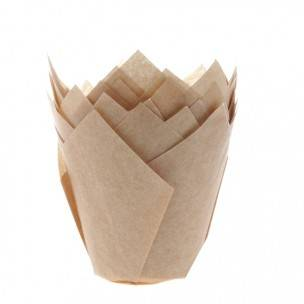 House of Marie Muffin Cups Tulp Kraft pk/36