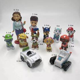 Paw Patrol taarttoppers set 12-delig