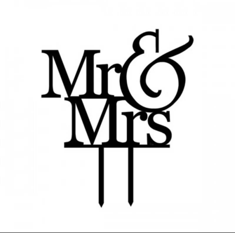 Mr & Mrs topper zwart