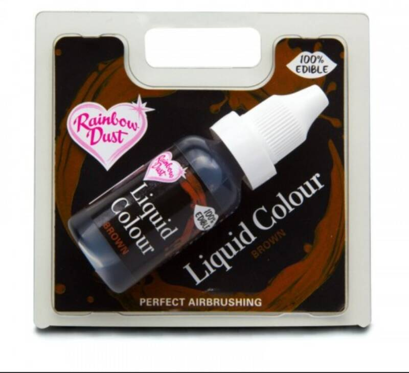 RD liquid colour airbrush bruin 16 ml