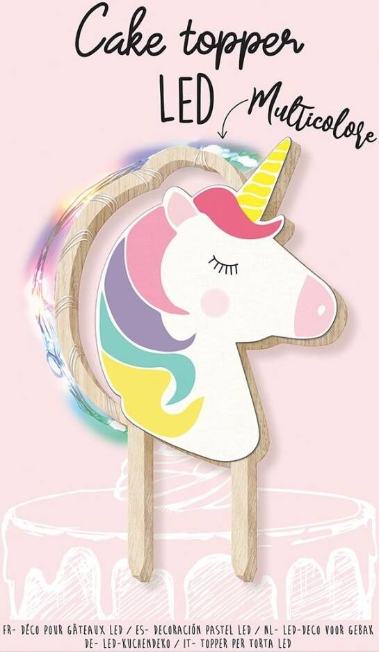 Scrapcooking unicorn LED taarttopper