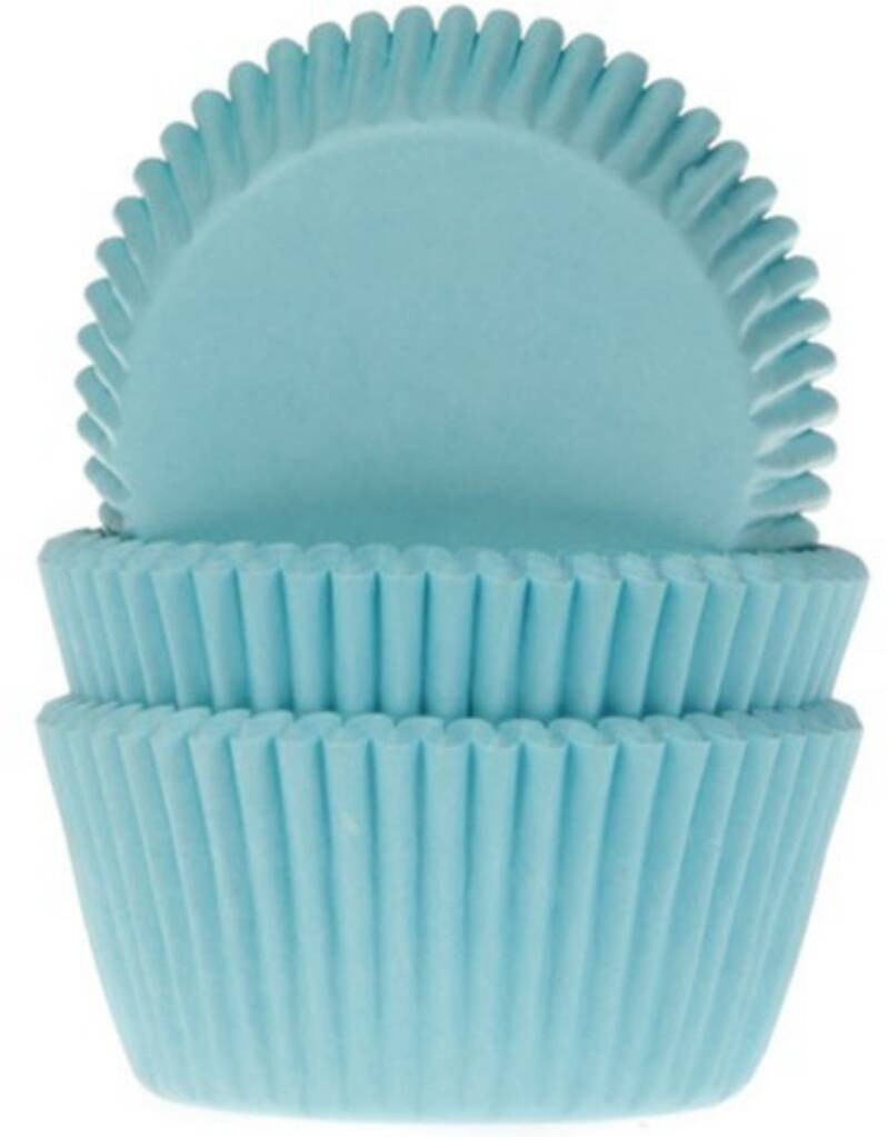 House of marie baking cups turquoise 50 stuks
