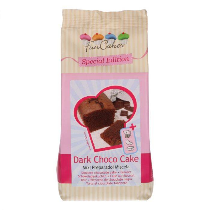 FunCakes Special Edition Mix voor Donkere Choco Cake 400g