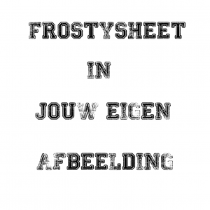 Frosty print A4 formaat