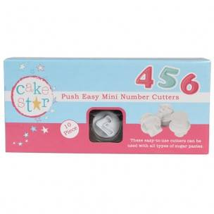 Cake Star Push Easy Cutters Mini Numbers Set/10
