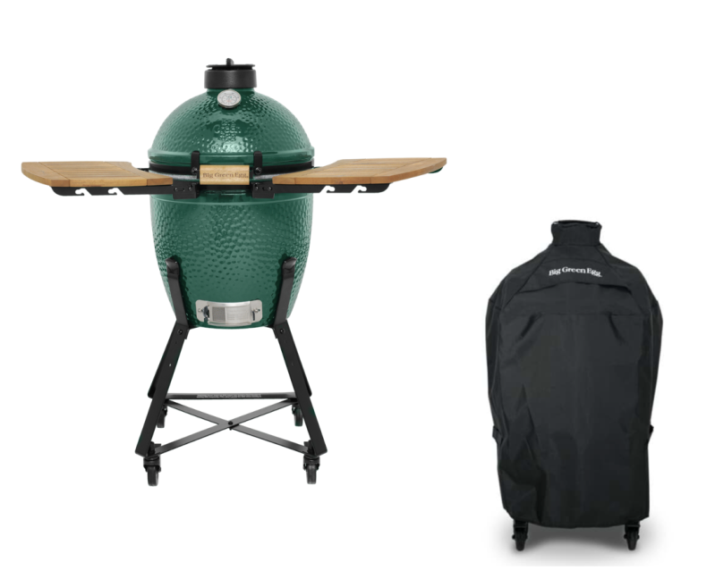 Big Green Egg Small + Nest + Zijplankjes (acacia hout) + Hoes