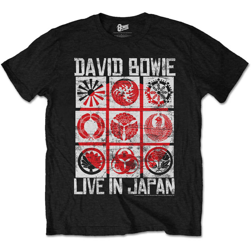 Bowie live in japan t-shirt