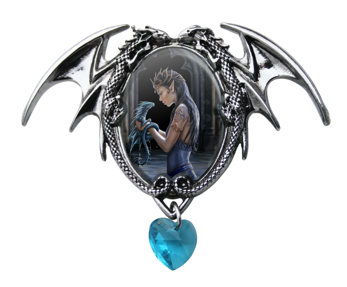 Anne Stokes cameo necklace -Water dragon-