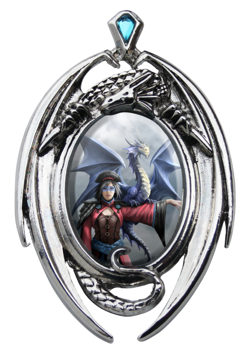 Anne Stokes cameo necklace -Look to the east cameo-