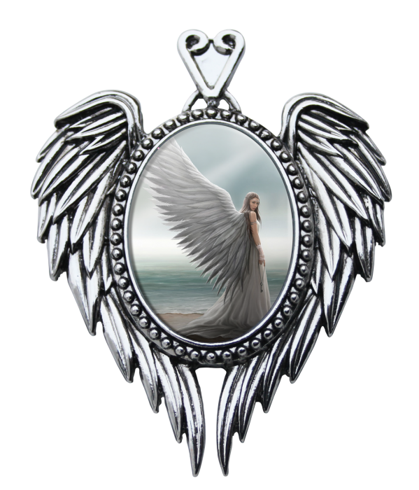Anne Stokes cameo necklace -Spirit Guide-