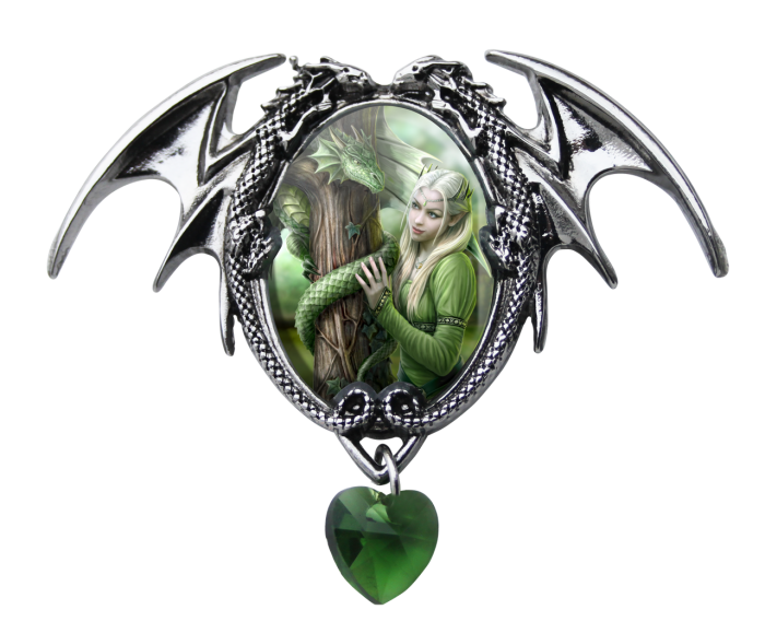 Anne Stokes cameo necklace -Kindred spirits-