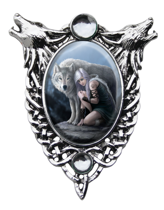 Anne Stokes cameo necklace -Protector-