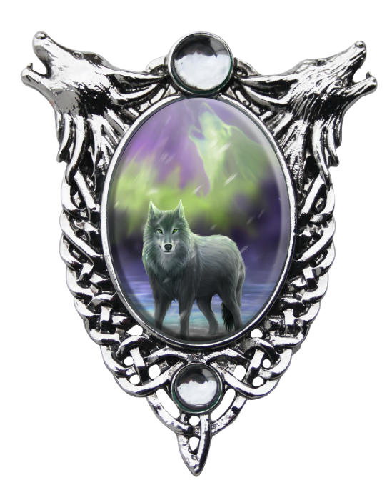 Anne stokes cameo necklace -Aura wolf-