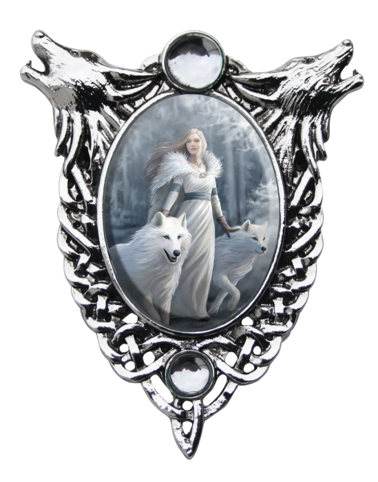 Anne stokes cameo necklace -Winter guardians-