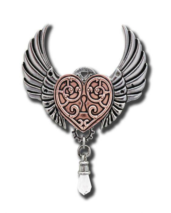 Anne Stokes necklace -Valkyrie heart-