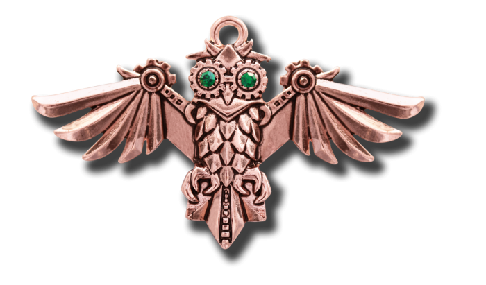 Anne Stokes Aviamore necklace -Owl-