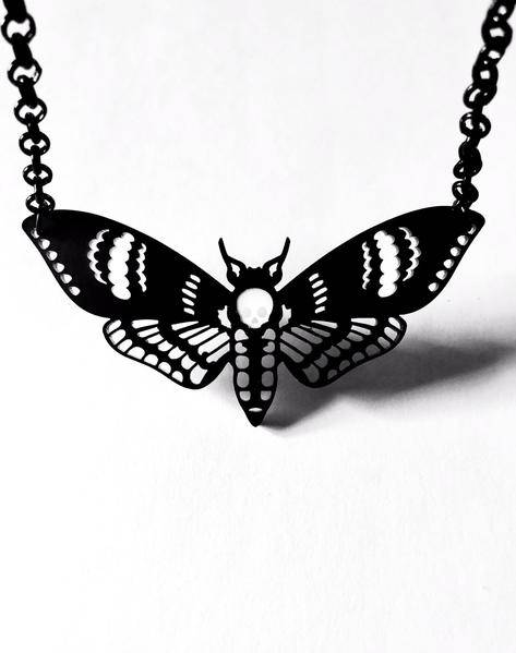 Curiology Deads head moth necklace