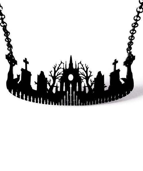 Curiology cemetery silhouette necklace