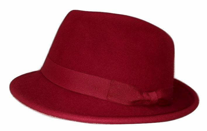 Trilby hoed rood