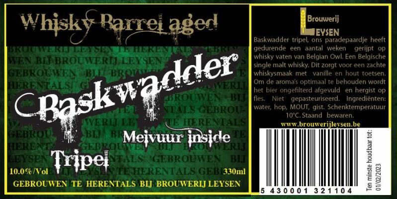 Baskwadder Tripel Whisky Barrel Aged